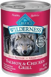 Blue Buffalo Wilderness Salmon and Chicken Grill Grain Free Canned Dog Food 12.5oz