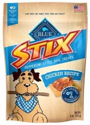 Blue Buffalo Blue Stix Chicken and Rice Recipe Pepperoni Style Dog Treats 6oz