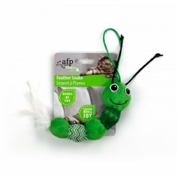 All For Paws Modern Cat Feather Snake Cat Toy