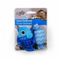All For Paws Modern Cat Sweet Tooth Fish Toy With Catnip 2 Pack