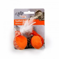 All For Paws Modern Cat Feather Balls with Catnip Cat Toy 2 Pack