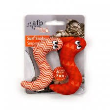 All For Paws Modern Cat Surf Crinkle Catnip Filled Snakes Cat Toy 2 Pack