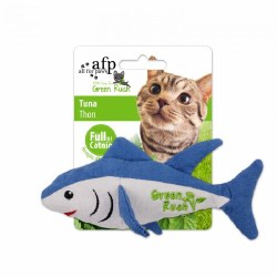 All For Paws Green Rush Canvas Tuna With Catnip Cat Toy