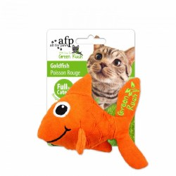 All For Paws Green Rush Canvas Goldfish With Catnip Cat Toy