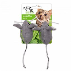 All For Paws Green Rush Two Catnip Filled Mice Cat Toy