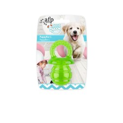 All For Paws Little Buddy Puppy Pacifer Green Small Dog Toy