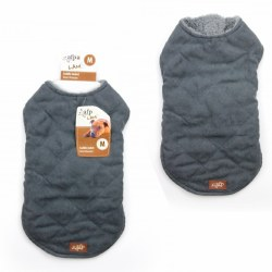 Lamb Wool Jacket Gray X-Small