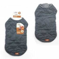 Lamb Wool Jacket Gray Medium