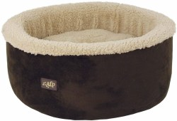All For Paws Curl and Cuddle Brown Cat Bed 16in