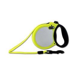 Alcott Adventure Retractable Leash Medium Safety Yellow Upto 65lbs
