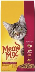 Meow Mix Hairball Control Dry Cat Food 6.3lb