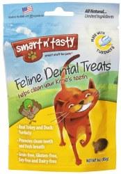 Smart N' Tasty Grain Free Turkey And Duck Dental Cat Treats 3oz