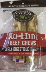 Earth Animal No Hide 7 Inch 2 Pack Beef Chews