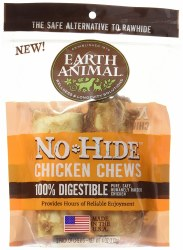 Earth Animal No Hide 4 Inch 2 Pack Chicken Chews