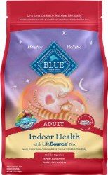 Blue Buffalo Indoor Health Salmon and Brown Rice Recipe Adult Dry Cat Food 7lb