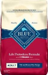 Blue Buffalo Life Protection Formula Adult Fish and Brown Rice Recipe Dry Dog Food 15lb