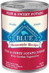 Blue Buffalo Homestyle Recipe Fish and Sweet Potato Dinner with Garden Vegetables Canned Dog Food Case of 12 12.5oz
