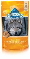 Blue Buffalo Wilderness Trail Treats Turkey Biscuits Grain Free Dog Treats 10oz
