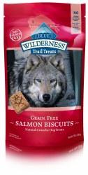 Blue Buffalo Wilderness Trail Treats Salmon Biscuits Grain Free Dog Treats 10oz