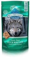 Blue Buffalo Wilderness Trail Treats Duck Biscuits Grain Free Dog Treats 10oz