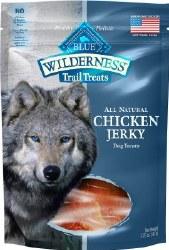 Blue Buffalo Wilderness Trail Treats Chicken Jerky Grain Free Dog Treats 3.25oz