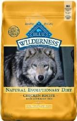 Blue Buffalo Wilderness Healthy Weight Chicken Recipe Grain Free Dry Dog Food 24lb