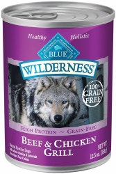 Blue Buffalo Wilderness Beef and Chicken Grill Grain Free Canned Dog Food 12.5oz