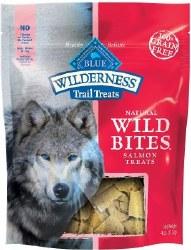 Blue Buffalo Wilderness Trail Treats Salmon Wild Bites Grain Free Dog Treats 4oz