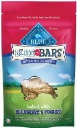 Blue Buffalo Blue Mini Bars Blueberry and Yogurt Natural Biscuits Dog Treats 8oz