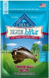 Blue Buffalo Blue Bits Tender Beef Recipe Soft Moist Training Dog Treats 4oz