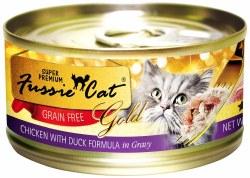 Fussie Cat Gold Chicken with Duck in Gravy Super Premium Grain Free Canned Cat Food 2.8oz