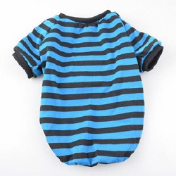 Blue/Black Stripe T Lrg