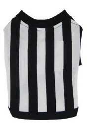 White/Black Stripe T Small
