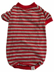Red/Grey Stripe T Small