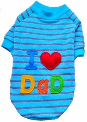I Love My Dad Pattern T Lg
