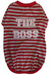 The Boss Red/Grey Pattern Sm