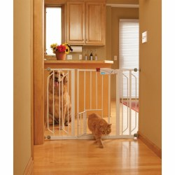 Carlson Expandable Extra Wide Walk Thru Gate With Door 29-52 Inches Wide 30 Inches Tall