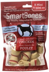 Smartbones Chicken Flavored Mini 8 Pack Rawhide Free Dog Chews