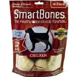 Smartbones Chicken Flavored Medium 4 Pack Rawhide Free Dog Chews