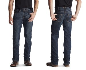 10016222 ARIAT REBAR M5 SLIM DURASTRETCH EDGE STACKABLE STRAIGHT LEG JEAN