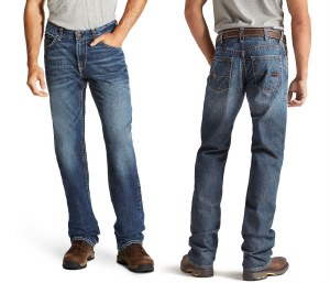 10020812 ARIAT FR M4 LOW RISE BASIC BOOT CUT JEAN
