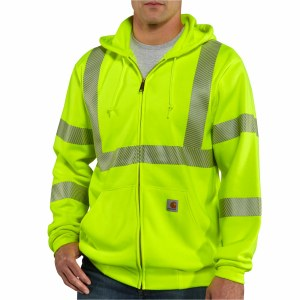 100503 High Visibility Zip-Front Class 3 Sweatshirt