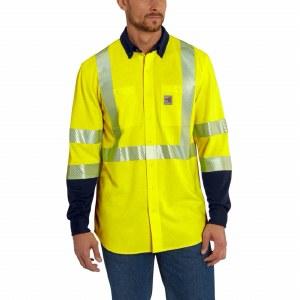 102843 FR Hi-Visability Force Hybrid Shirt