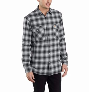 103855 Rugged Flex® Hamilton Snap Front Plaid Long-Sleeve Shirt