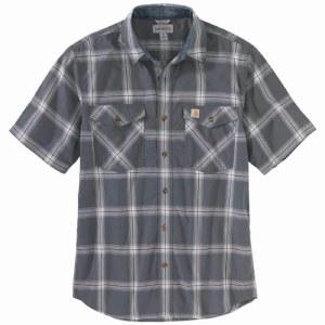 104173 Rugged Flex® Relaxed Fit Lightweight Short-Sleeve Button-Front Plaid Shirt