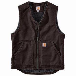 104394 Washed Duck Sherpa-Lined Vest