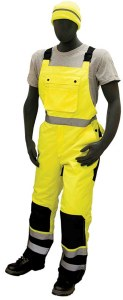 75-2357 Hi-Vis Quilted Insulated Waterproof Bib