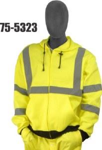 Majestic 75-5323 Hi-Vis Class 3 Hooded Sweatshirt
