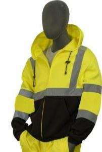75-5325 Hi-Vis Zip Front Hooded Sweatshirt
