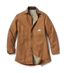 FR3407BN Rasco Brown FR Shirt Jacket